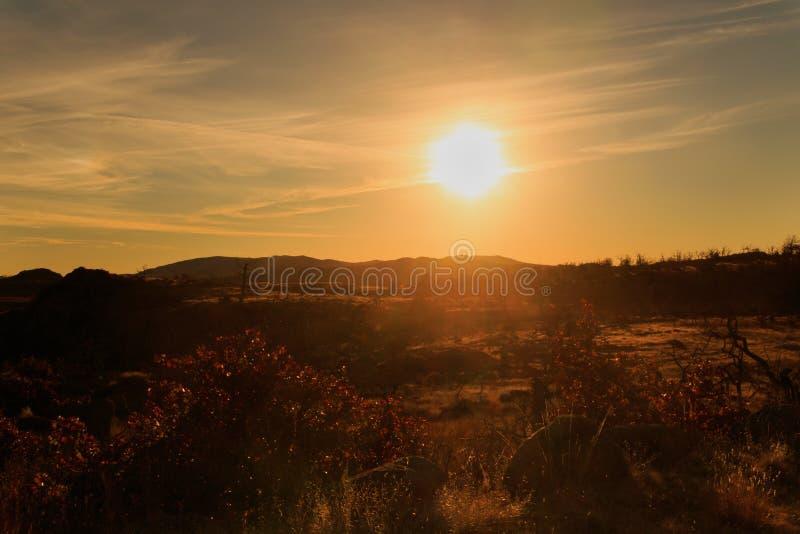 Salida del sol de los posts foto de archivo