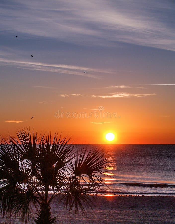 Salida del sol de Myrtle Beach fotografía de archivo libre de regalías