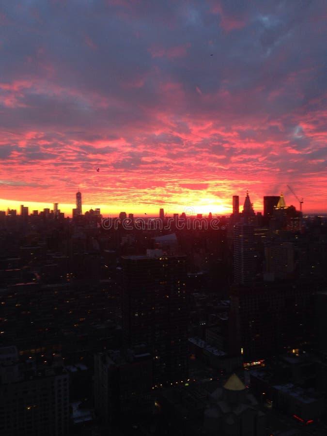 Salida del sol de NYC fotografía de archivo
