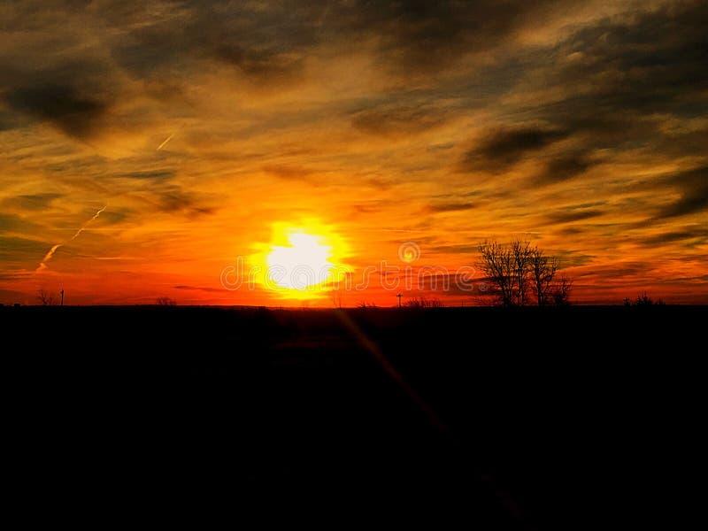 Salida del sol de Oklahoma imagen de archivo libre de regalías