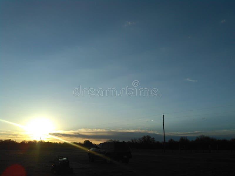 Salida del sol de Oklahoma fotografía de archivo libre de regalías