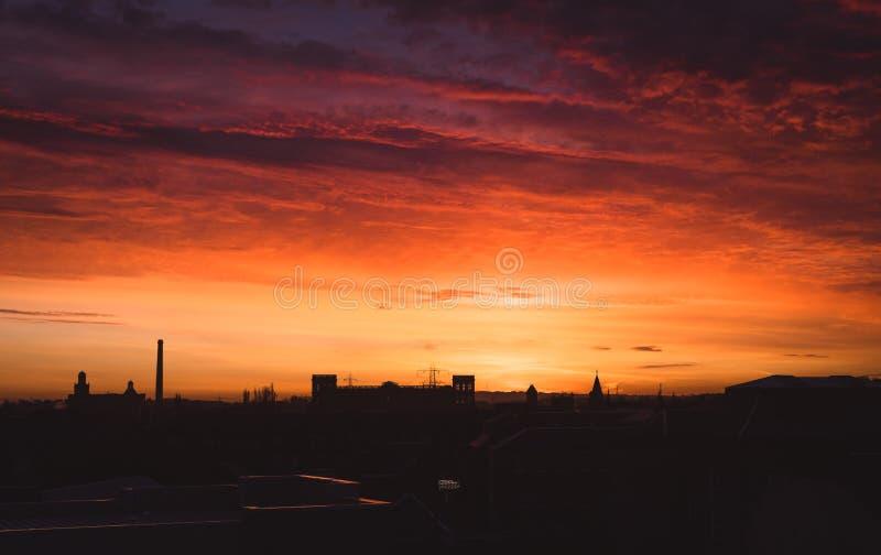 Salida del sol de Paisley imagen de archivo