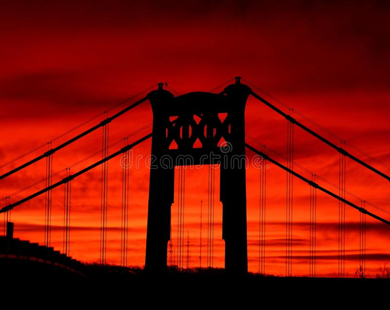 Salida del sol de Pittsburgh imagen de archivo libre de regalías