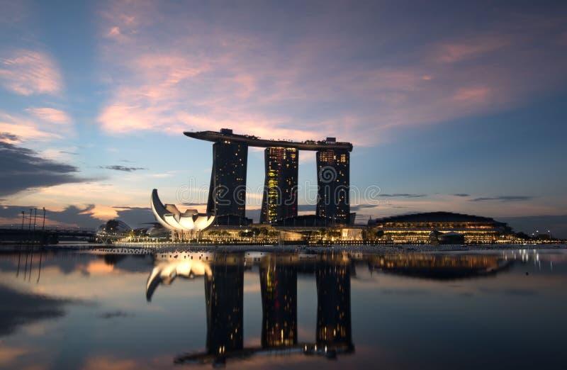 Salida del sol de Singapur fotos de archivo libres de regalías