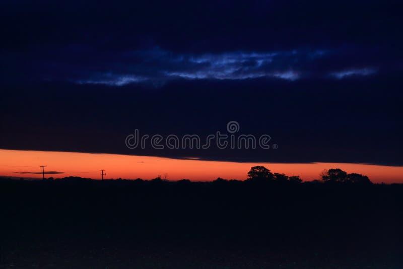 Salida del sol de Suffolk foto de archivo
