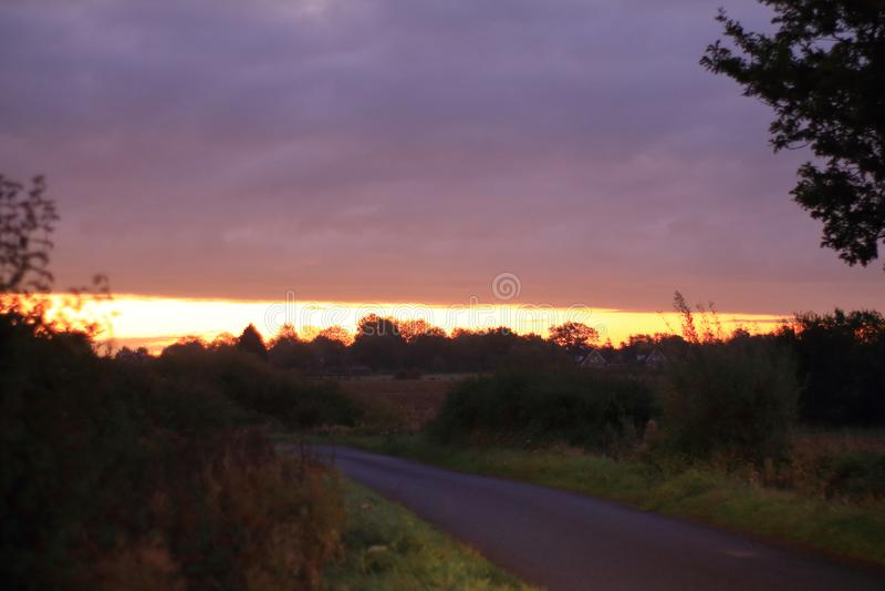 Salida del sol de Suffolk imagenes de archivo