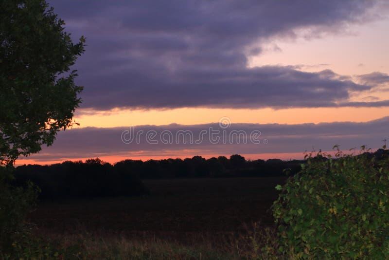 Salida del sol de Suffolk imagen de archivo