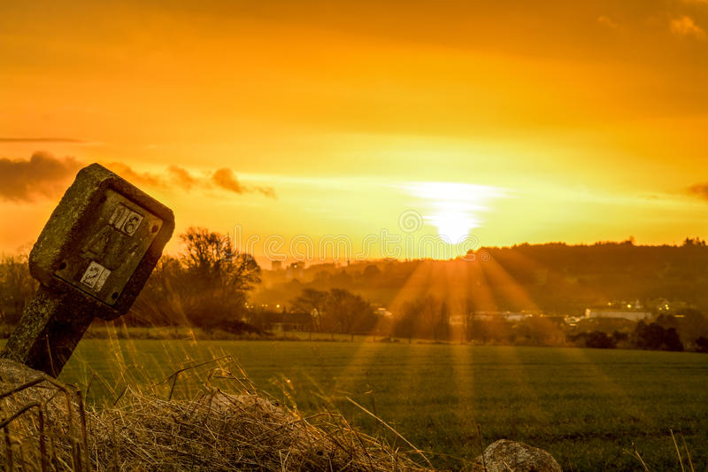 Salida del sol del Brae de Forrit fotos de archivo