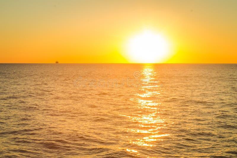 Salida del sol del lago Michigan imágenes de archivo libres de regalías