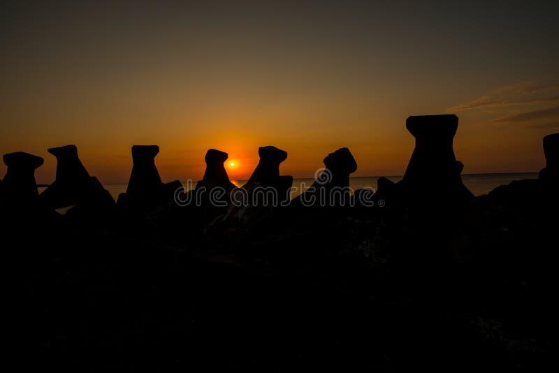 Salida del sol del Mar Negro fotos de archivo