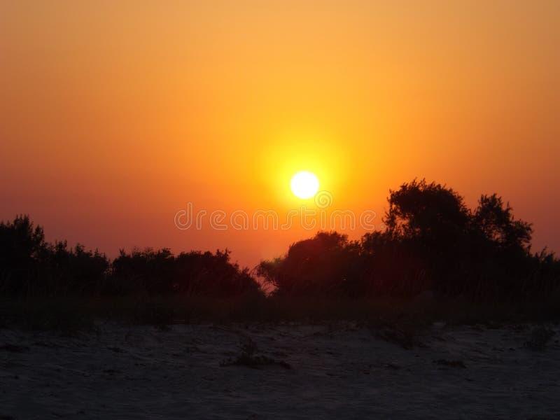 Salida del sol, el Mar Negro foto de archivo