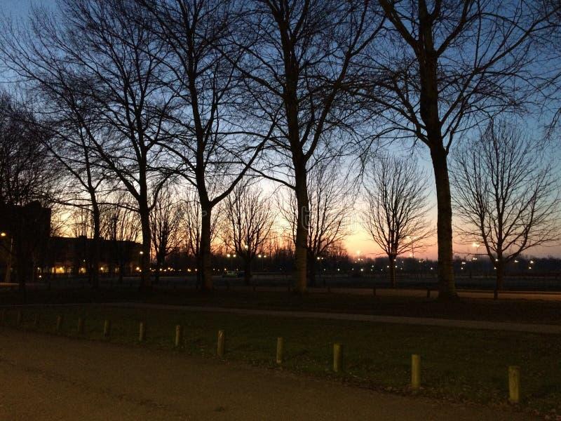 Salida del sol en Amsterdam fotos de archivo libres de regalías