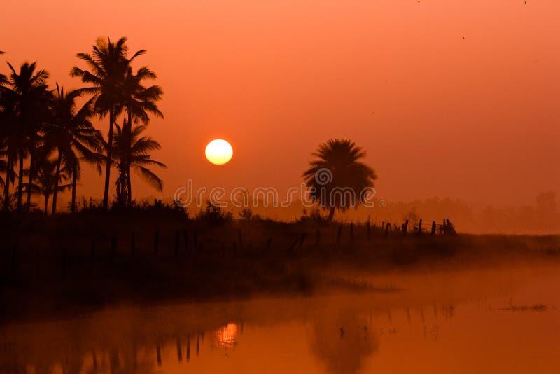 Salida del sol en Bangalore fotografía de archivo libre de regalías