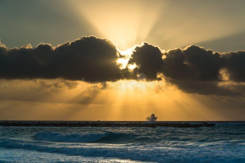 Salida del sol en Cancun fotografía de archivo libre de regalías