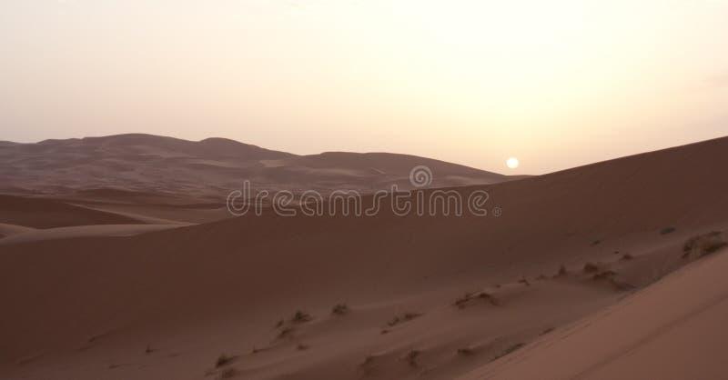 Salida del sol en desierto de la arena fotos de archivo