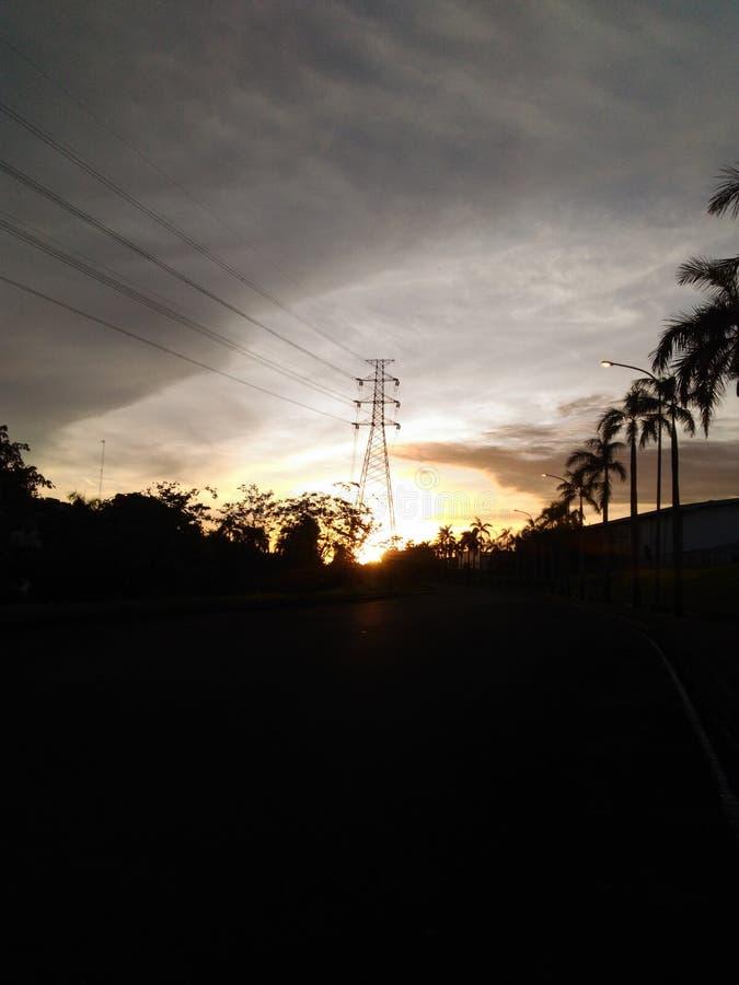 Salida del sol en ejip Wonderfull de Matahari imágenes de archivo libres de regalías