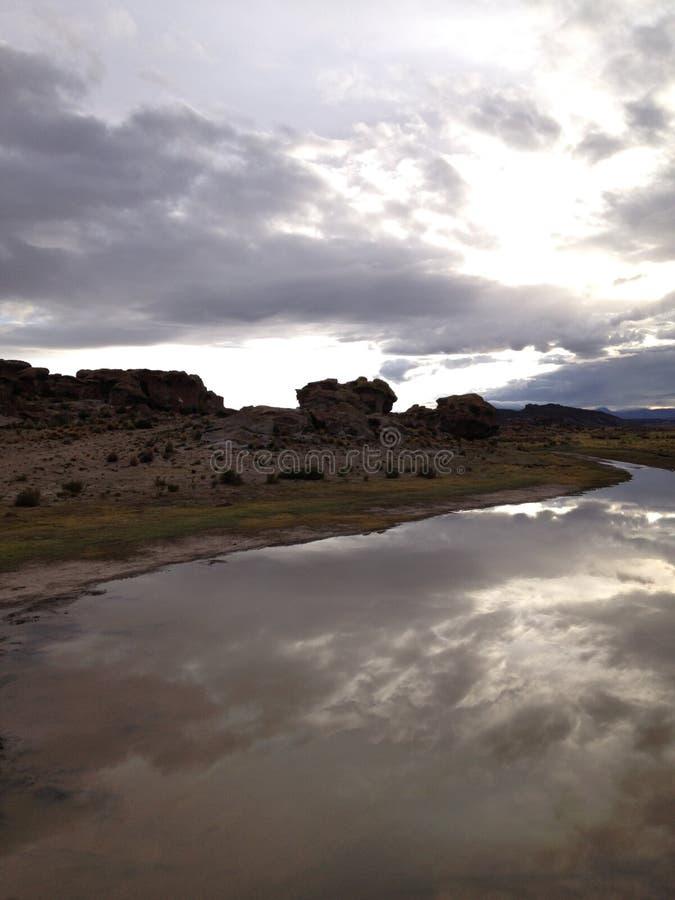 Salida del sol en el altiplano de Bolivia III fotos de archivo libres de regalías