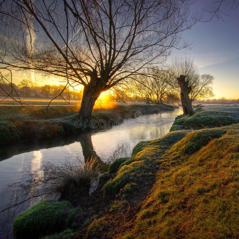 Salida del sol en el park4a fotografía de archivo libre de regalías