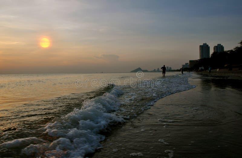 Salida del sol en Huahin imagen de archivo libre de regalías
