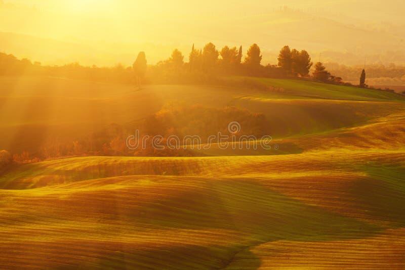 Salida del sol en Italia imagen de archivo libre de regalías