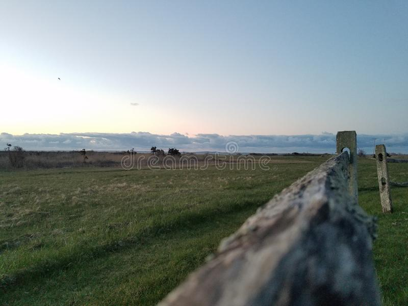 Salida del sol en la granja foto de archivo libre de regalías