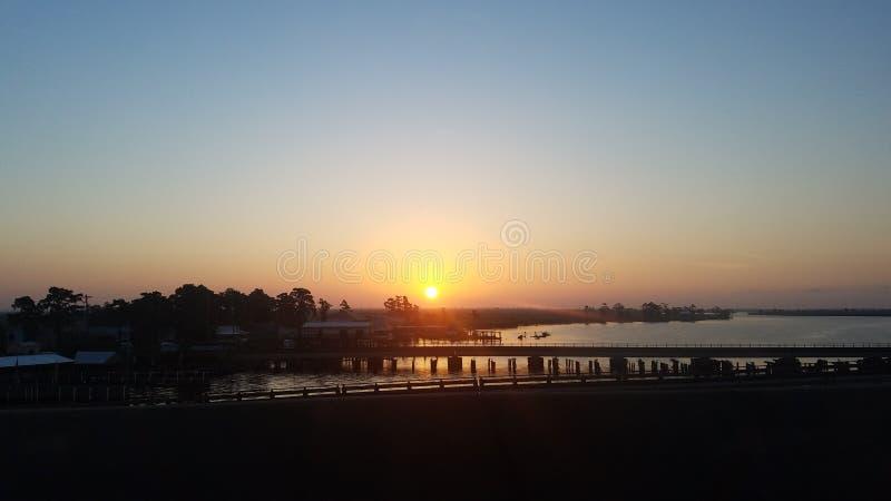 Salida del sol en Luisiana fotos de archivo