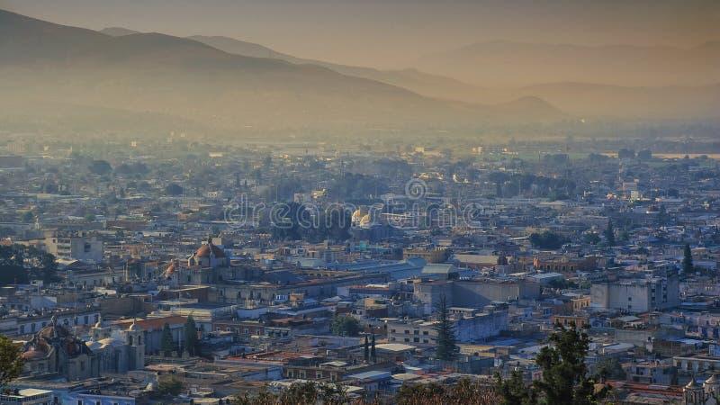 Salida del sol en Oaxaca imagen de archivo