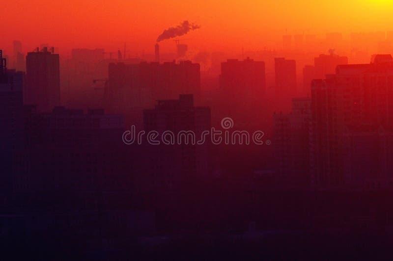 Salida del sol en Pekín imagen de archivo libre de regalías