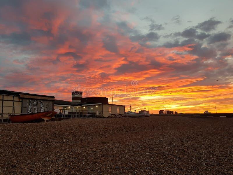 Salida del sol en Sussex imagen de archivo libre de regalías