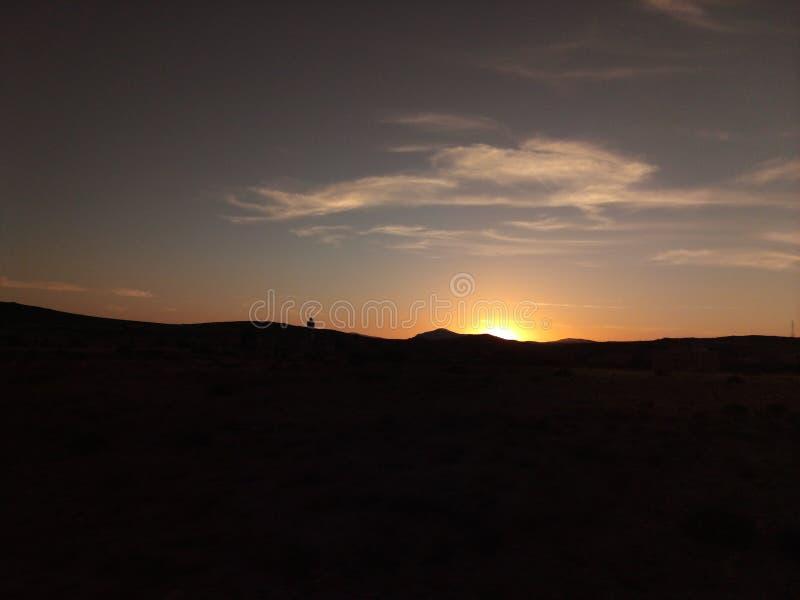 Salida del sol en tafraoute foto de archivo