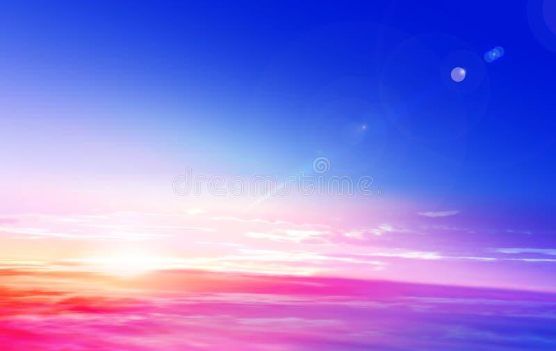 Salida del sol en una estratosfera imagen de archivo