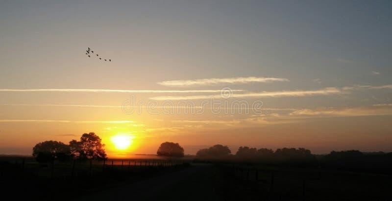 Salida del sol en Weirsdale fotografía de archivo libre de regalías