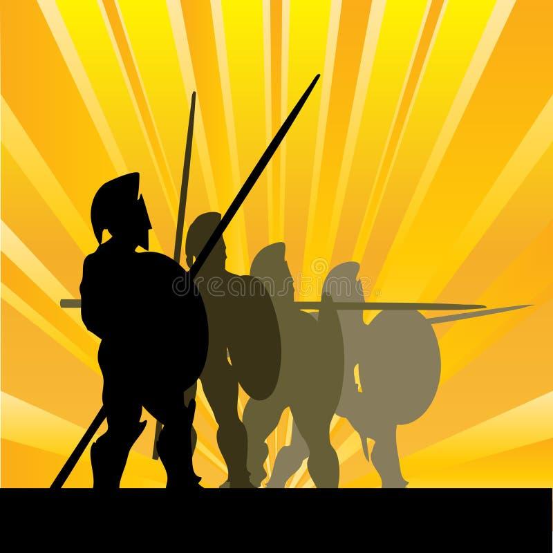 Salida del sol espartano libre illustration