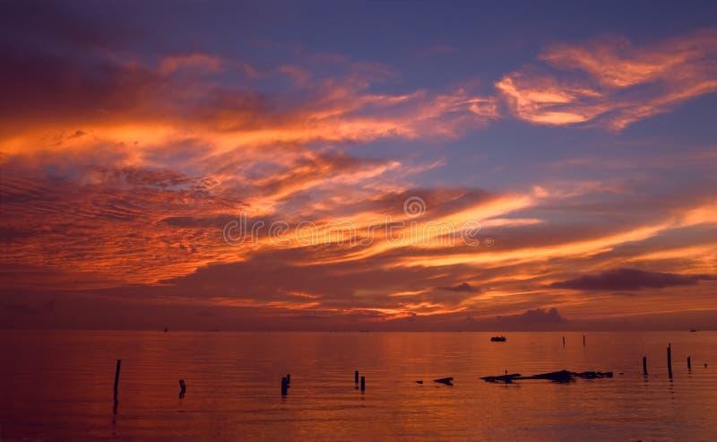 Salida del sol espectacular de Seabrook foto de archivo libre de regalías