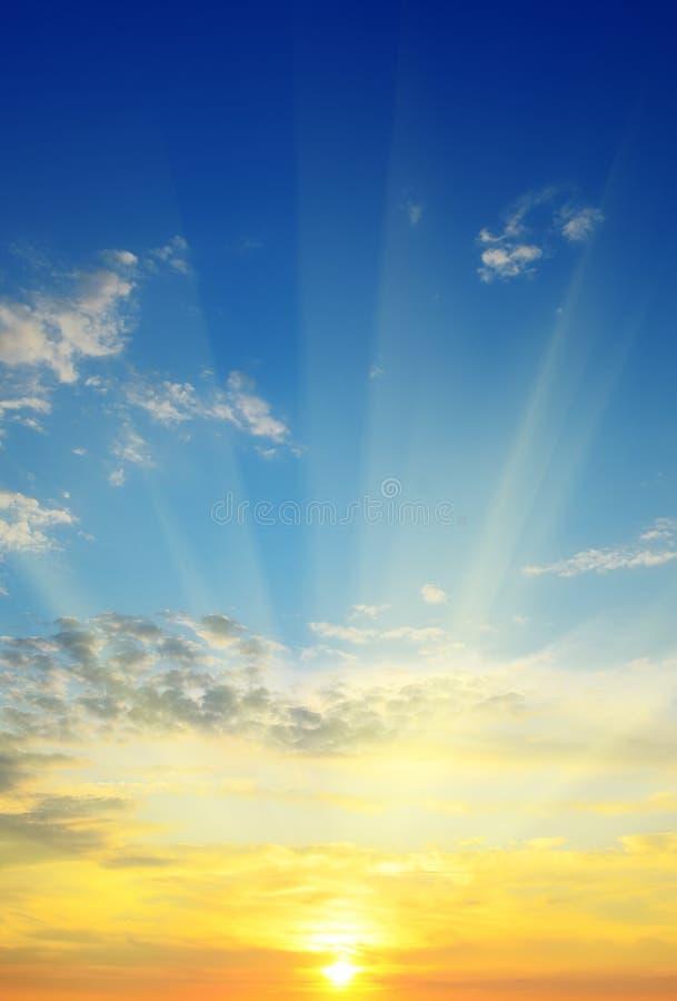 Salida del sol hermosa imágenes de archivo libres de regalías