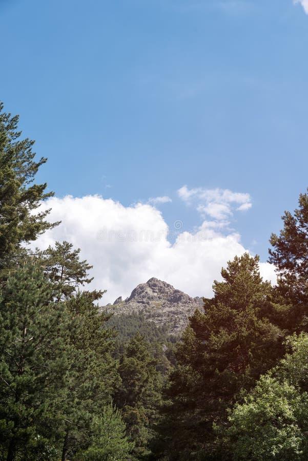 Salida del sol hermosa en la montaña imagen de archivo