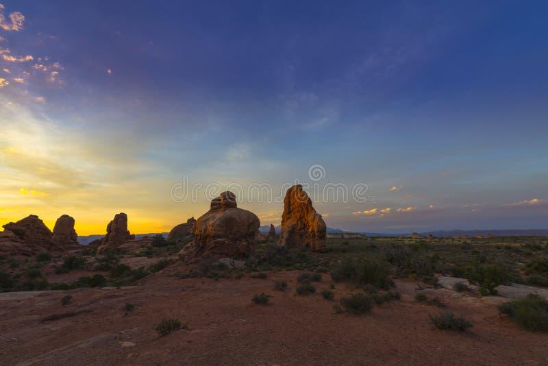 Salida del sol hermosa sobre la sección de Windows foto de archivo libre de regalías