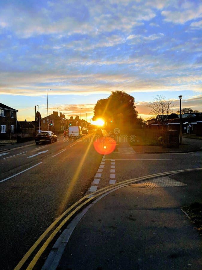Salida del sol del invierno fotografía de archivo