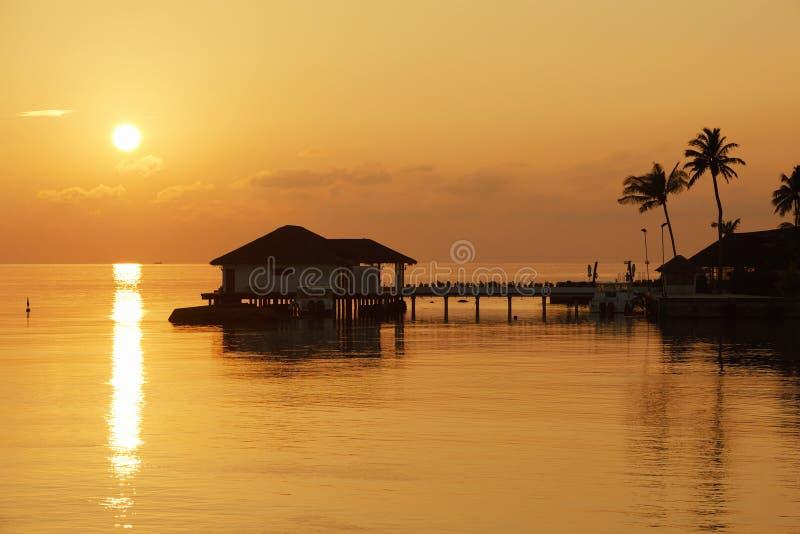 Salida del sol, Maldives fotografía de archivo libre de regalías