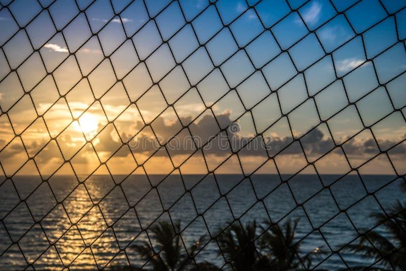 Salida del sol Miami Beach imagen de archivo libre de regalías