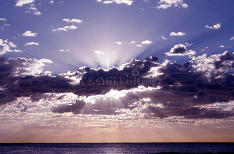 Salida del sol pacífica fotografía de archivo