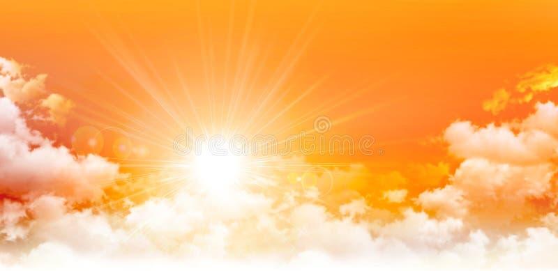Salida del sol panorámica foto de archivo
