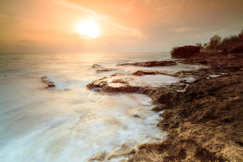 Salida del sol Puerto Rico fotografía de archivo libre de regalías