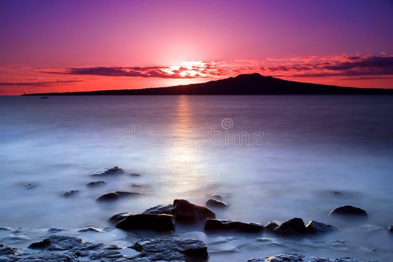 Salida del sol rosada foto de archivo libre de regalías