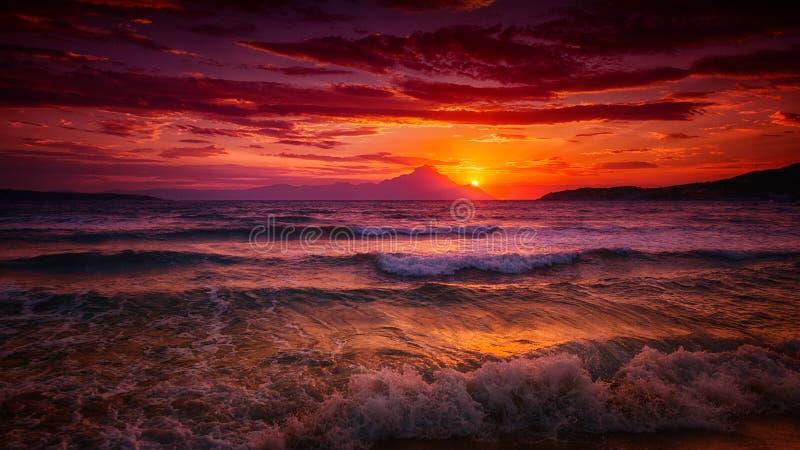 Salida del sol rosada fotografía de archivo libre de regalías