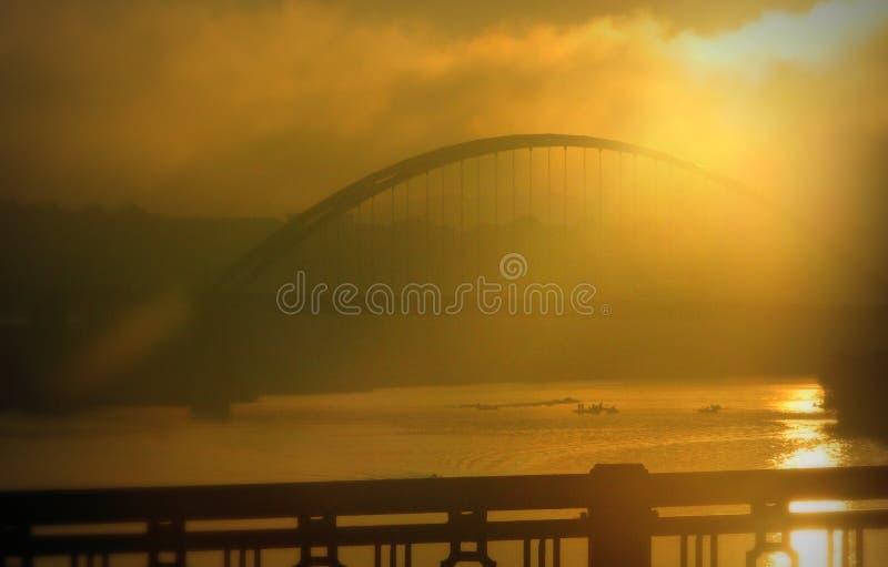 Salida del sol sobre el PA de Pittsburgh foto de archivo libre de regalías