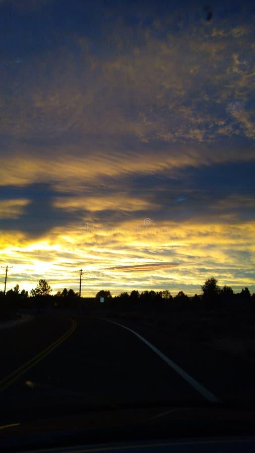 Salida del sol temprana fotos de archivo