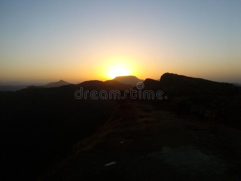 Salida del sol vista imagenes de archivo