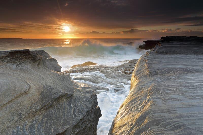 Salida del sol Yena Australia imagenes de archivo