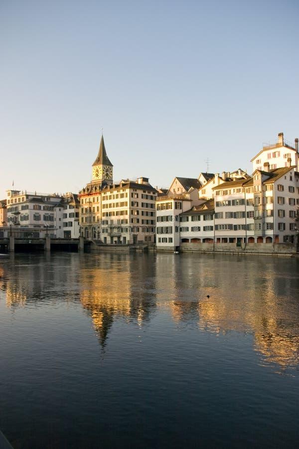 Salida del sol Zurich foto de archivo libre de regalías